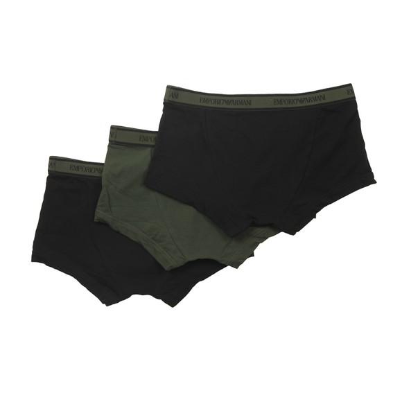 Emporio Armani Mens Green 3 Pack Stretch Cotton Trunk