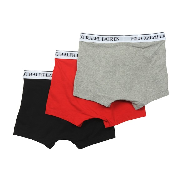 Polo Ralph Lauren Mens Grey/Black/Red 3 Pack Pouch Trunks