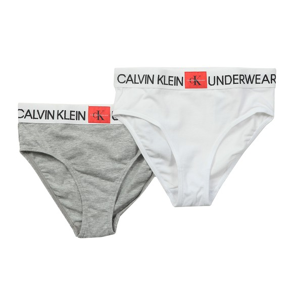 Calvin Klein Girls White 2 Pack Brief