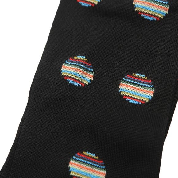 Paul Smith Mens Black Multi Polka Dot Sock