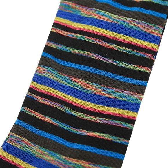 PS Paul Smith Mens Black Pan Stripe Sock