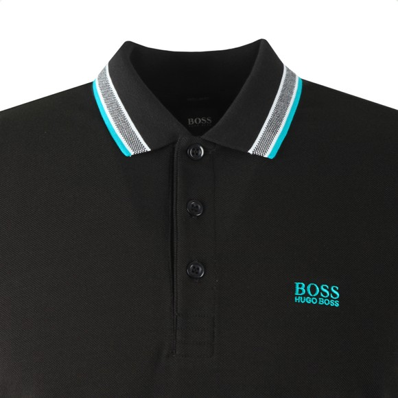 BOSS Mens Black Athleisure Paddy Polo Shirt