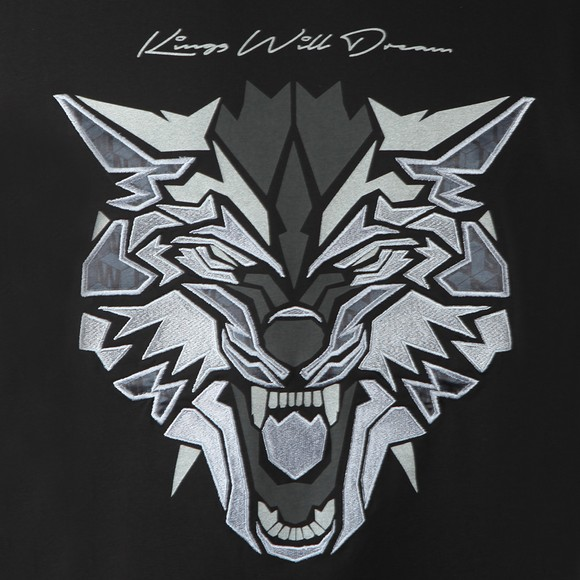 Kings Will Dream Mens Black Wolf T-Shirt