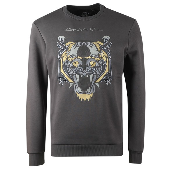 Kings Will Dream Mens Grey Demon Fleece Sweatshirt