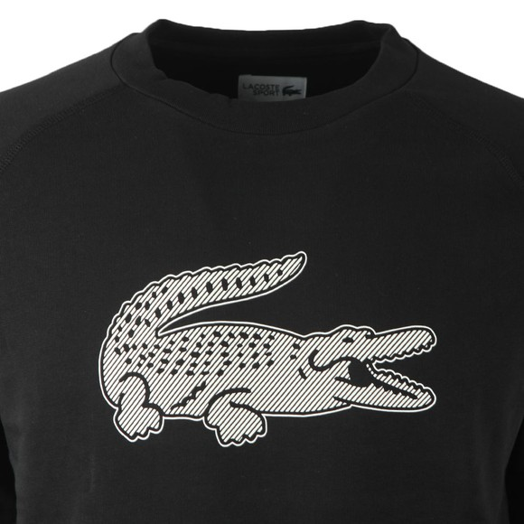 Lacoste Sport Mens Black Oversized Crocodile Sweatshirt main image