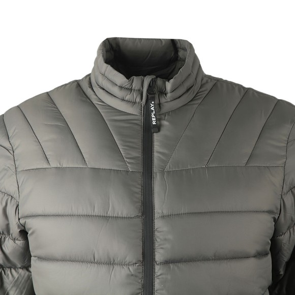 Replay Mens Grey M8080 Quilted Jacket