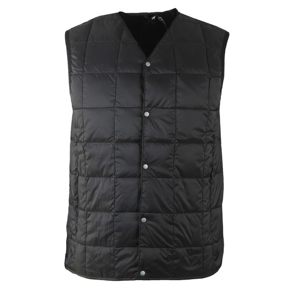 Taion Mens Black 001 Quilted Layering Gilet