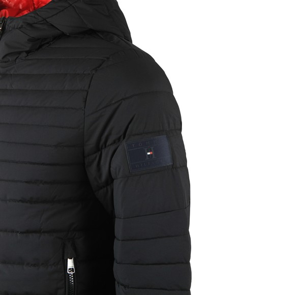 Tommy Hilfiger Mens Black Quilted Hooded Jacket