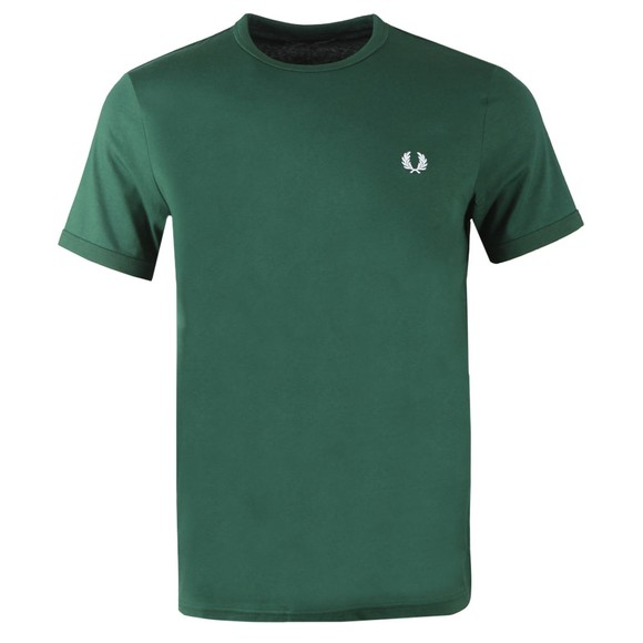 Fred Perry Mens Green Ringer T-Shirt main image