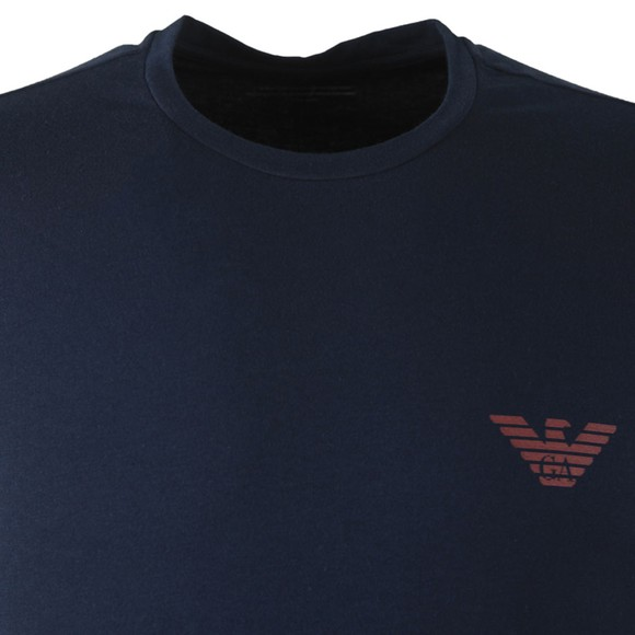 Emporio Armani Mens Blue Organic Stretch Cotton T Shirt main image