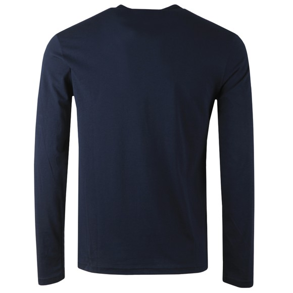 Emporio Armani Mens Blue Long Sleeve Small Logo T Shirt main image