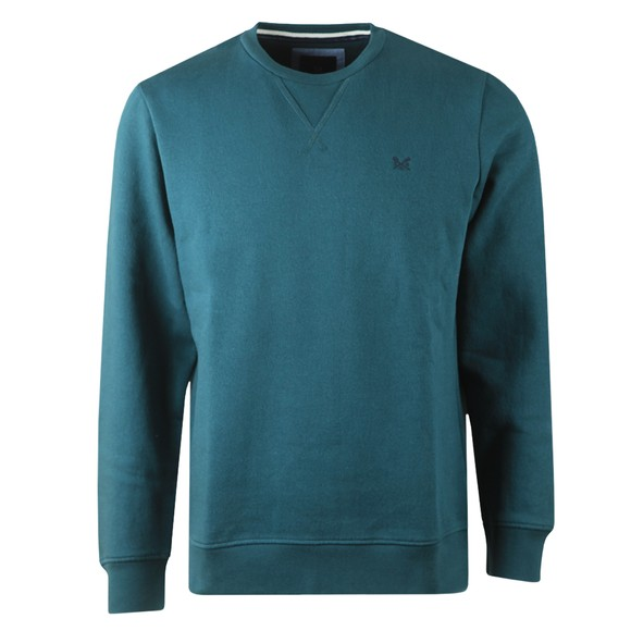 Crew Clothing Company Mens Green Baddesley Crew Sweatshirt main image