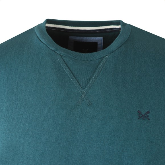 Crew Clothing Company Mens Green Baddesley Crew Sweatshirt