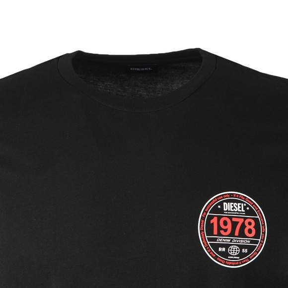Diesel Mens Black T Diegos Long Sleeve T Shirt