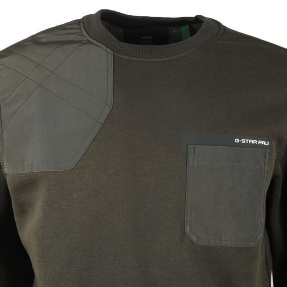 G-Star Mens Green Hunting Patch Sweatshirt