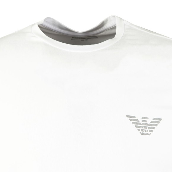 Emporio Armani Mens White Organic Stretch Cotton T Shirt