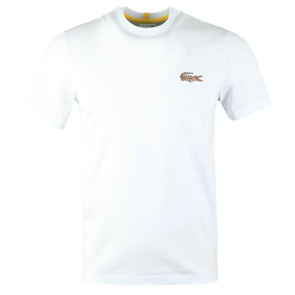 Lacoste x National Geographic Mens White TH6281 Jaguar T-Shirt