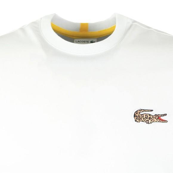 Lacoste x National Geographic Mens White TH6281 Jaguar T-Shirt