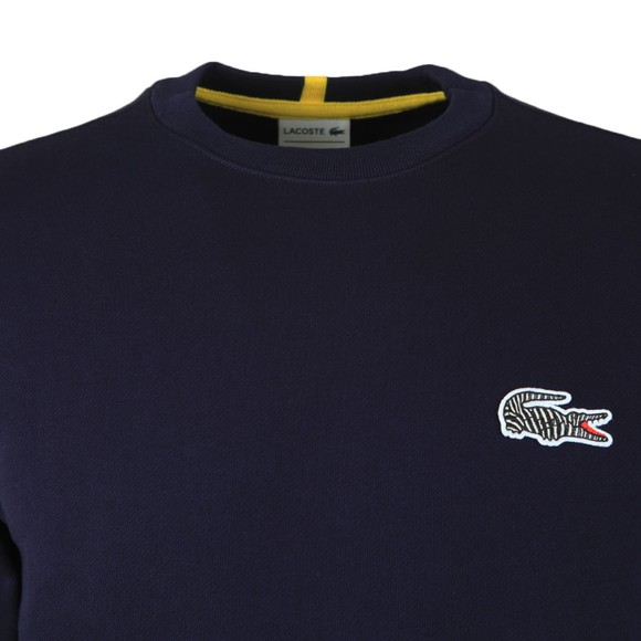 Lacoste x National Geographic Mens Blue SH6282 Zebra Sweatshirt
