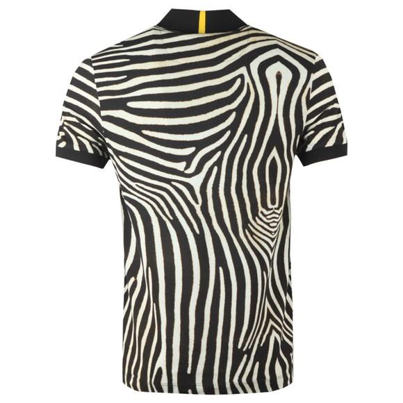 Lacoste x National Geographic Mens Black PH6285 Zebra Polo Shirt main image