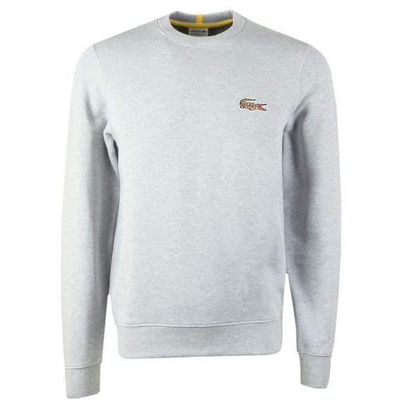Lacoste x National Geographic Mens Grey SH6282 Jaguar Sweatshirt