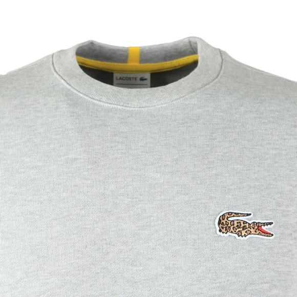 Lacoste x National Geographic Mens Grey SH6282 Jaguar Sweatshirt main image