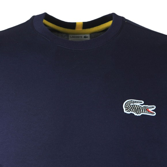 Lacoste x National Geographic Mens Blue TH6281 Zebra T-Shirt