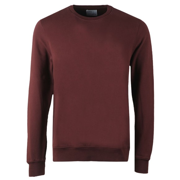 Colorful Standard Mens Red Organic Crew Sweatshirt