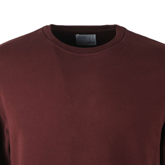 Colorful Standard Mens Red Organic Crew Sweatshirt main image