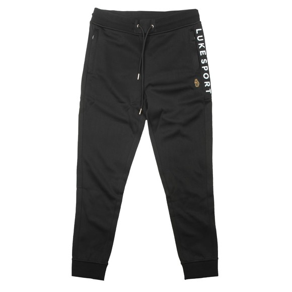 Luke Sport Mens Black Actio Text Print Joggers main image