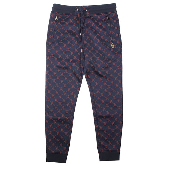 Luke Sport Mens Blue Golden Balls Overprinted Joggers main image