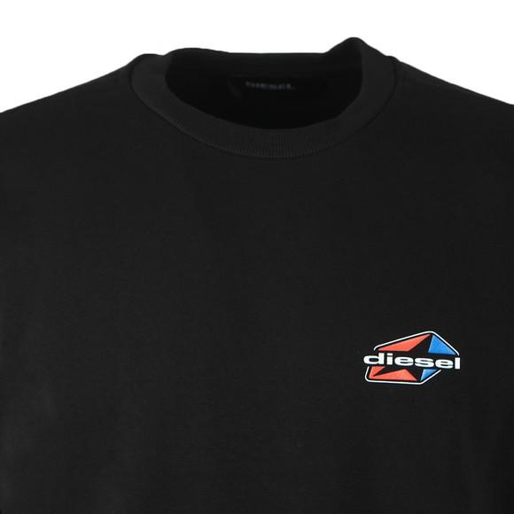 Diesel Mens Black Girk K 14 Crew Sweatshirt