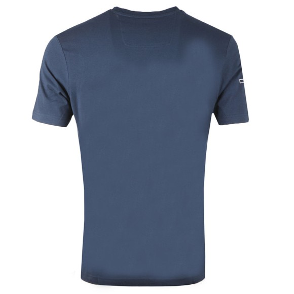 BOSS Mens Blue Athleisure Tee 1 Chest Logo Block T-Shirt main image
