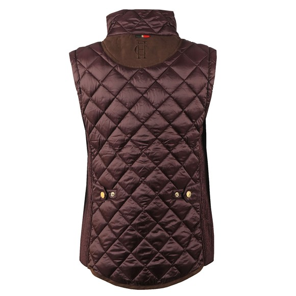 Holland Cooper Womens Purple Equi Diamond Quilt Gilet main image