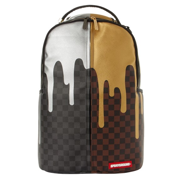 Sprayground Mens Black Double Drip Backpack main image