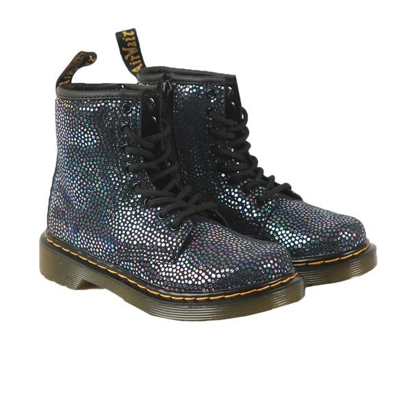 Dr. Martens Girls Black Iridescent Spot 1460 Suede Boot