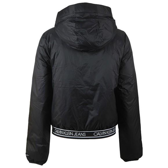 Calvin Klein Jeans Womens Black Logo Lightweight Hooded Padded Jacket main image
