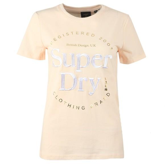 Superdry Womens Pink Established T Shirt