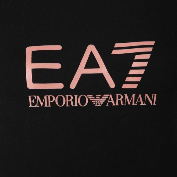 EA7 Emporio Armani Womens Black Logo T Shirt