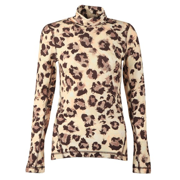 French Connection Womens Brown Miya Animal Top