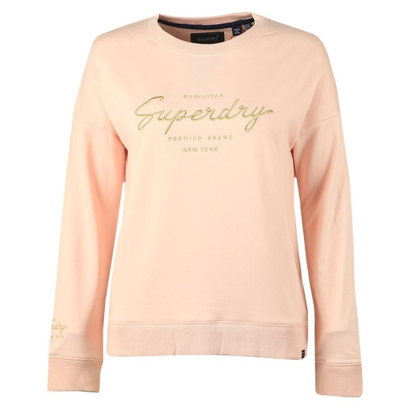 Superdry Womens Pink Lucy Lounge Sweat Top