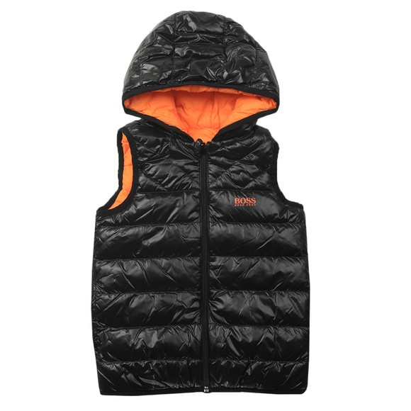 BOSS Boys Black Reversible Gilet