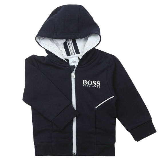 BOSS Baby Boys Blue J05J86 Logo Hoody