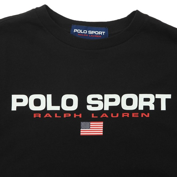 Polo Sport Ralph Lauren Boys Black Boys Large Logo T Shirt