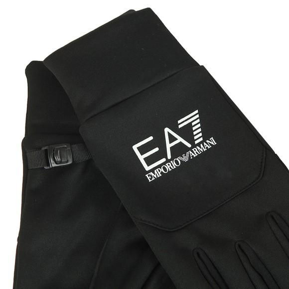 EA7 Emporio Armani Mens Black Train Softshell Gloves