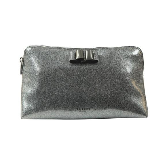Ted Baker Womens Grey GGIIGGI Bow Glitter Washbag