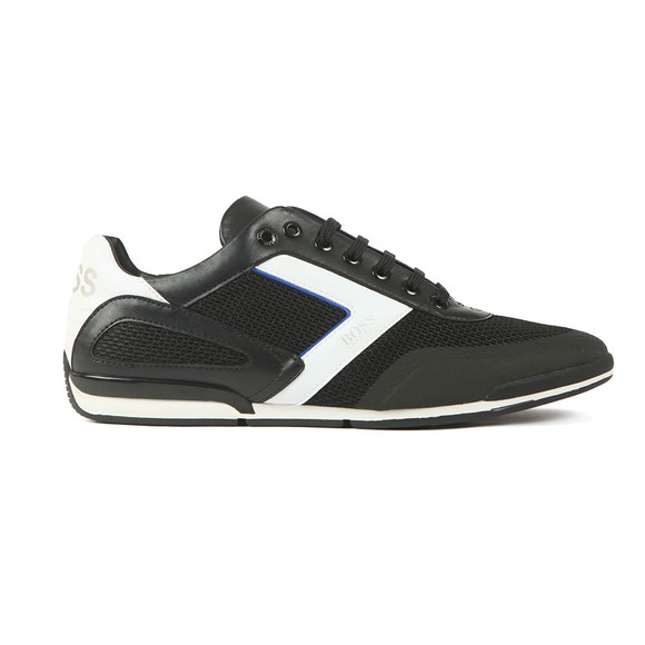 BOSS Mens Black Saturn Lowp Mesh Trainer