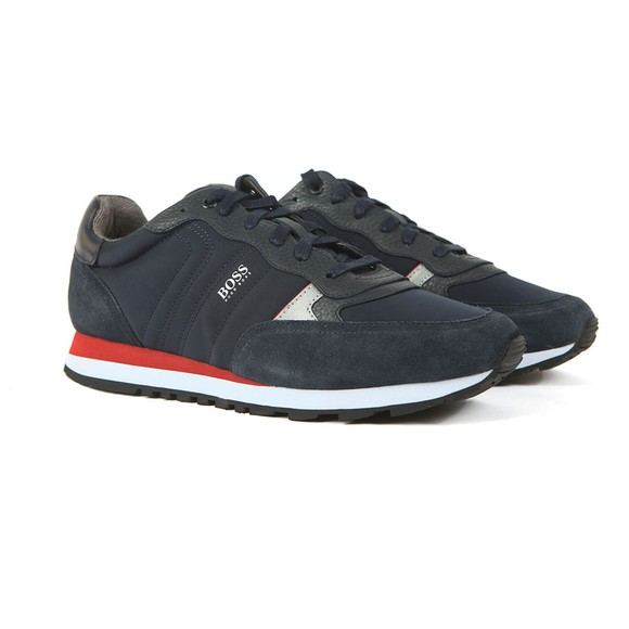 BOSS Mens Blue Parkour Runn Mx Trainer