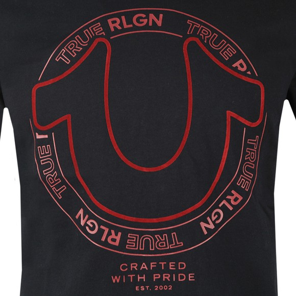 True Religion Mens Black Regan Crew Neck T-Shirt