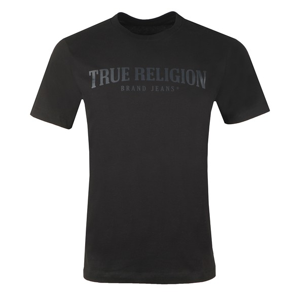 True Religion Mens Black Arch Logo Crew T-Shirt